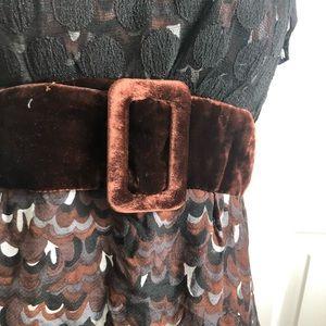 Nanette Lepore Tops - Nanette Lepore velvet Lace Multi Texture Top